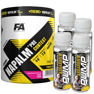Xtreme Napalm Pre-Contest + Assassins Pump -TESTER firmy Fitness Authority +  Explomax